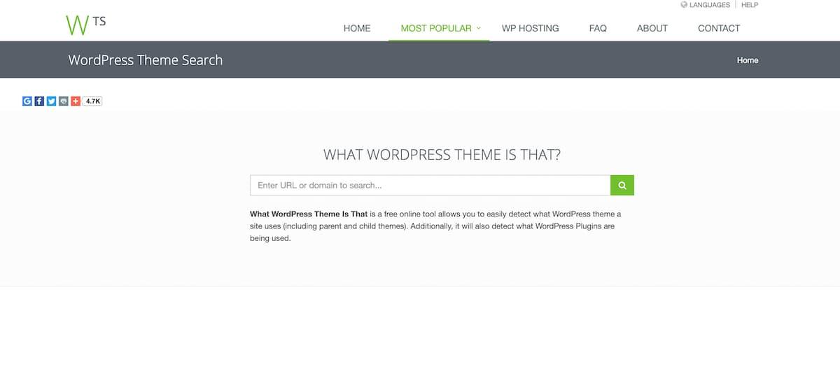 『What WordPress Theme Is That?』