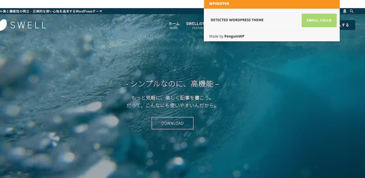 WPSNIFFER – WordPress Themes Snifferを利用している様子